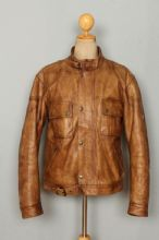 BELSTAFF Cougar Leather Sports Motorcycle Jacket Size XLarge